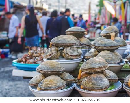 ahtapot · satış · balık · pazar · büyük - stok fotoğraf © eh-point