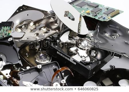 Vernietigd harde schijf hoek hoofd gegevens Stockfoto © gewoldi