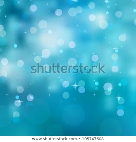 bleu · bokeh · Noël · lumières · eps · vecteur - photo stock © beholdereye