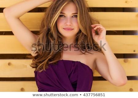 Stok fotoğraf: Mutlu · genç · kadın · güzel · sağlıklı · vücut · gülümseme