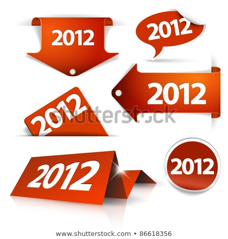 Vector 2012 Labels, stickers, pointers, tags Stock photo © orson