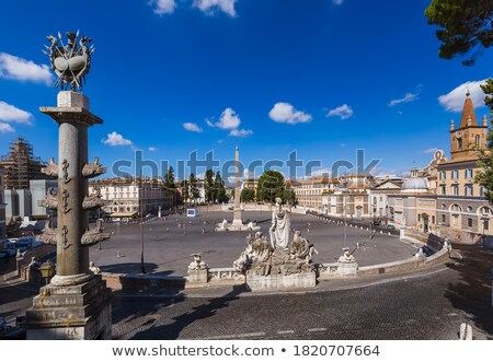 Stockfoto: Piazza Del Popolo Obelisk