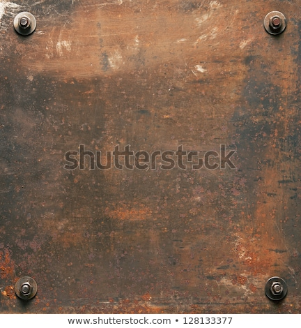Grunge rusty metal background closeup stock photo © Petkov
