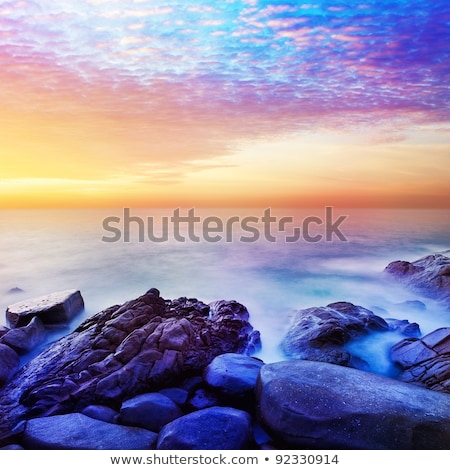 Rainbow Prime planet fantasy seascape. Square composition. Stock photo © moses