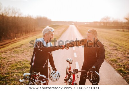 Two friend cycling in the countryside stock photo © photography33