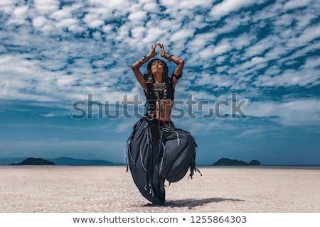 tribal · moda · mulher · belo · africano · indígena - foto stock © phakimata