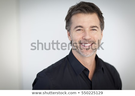 Duygusal portre yakışıklı adam gökyüzü seksi spor Stok fotoğraf © konradbak