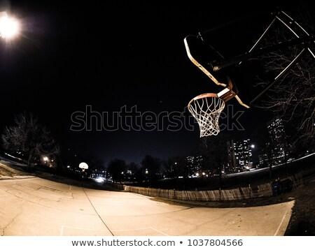 Kosárlabda kék ég narancs kék Stock fotó © bobhackett