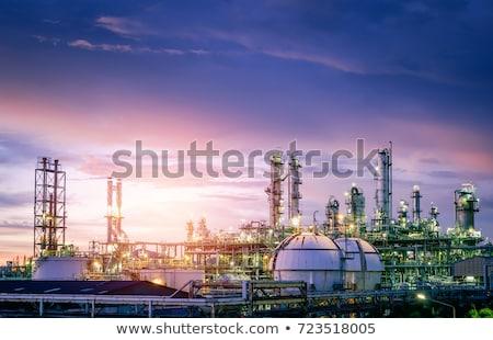 Indústria do petróleo Óleo perfuração Foto stock © photohome