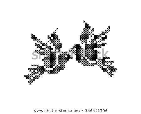 Stitch Bird Stock photo © mintymilk