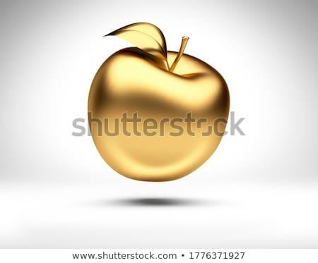золото яблоко изолированный белый отражение Сток-фото © Leonardi