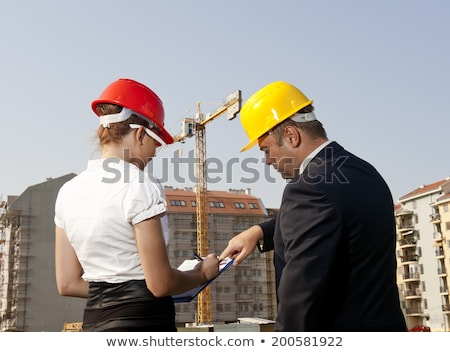 Female bricklaying team Stock photo © photography33