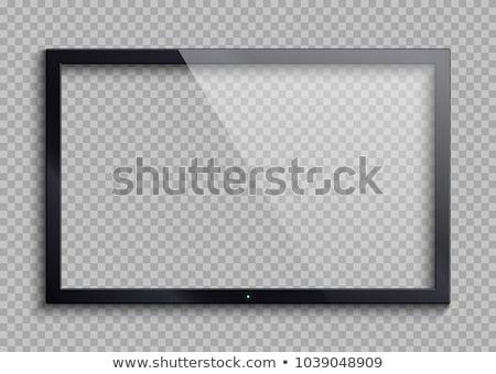 Digitale lcd frame zwarte geïsoleerd witte Stockfoto © designsstock