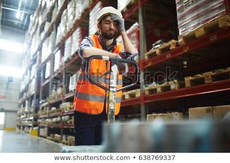 Moe werknemer man werk home baksteen Stockfoto © photography33