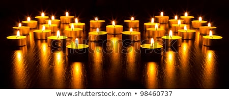 Panorama veel brandend kaarsen ondiep achtergrond Stockfoto © vlad_star
