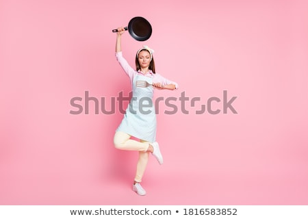 Stock photo: retro housekeeper dreaming