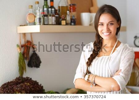 young woman preparing paprika Stock photo © Rob_Stark