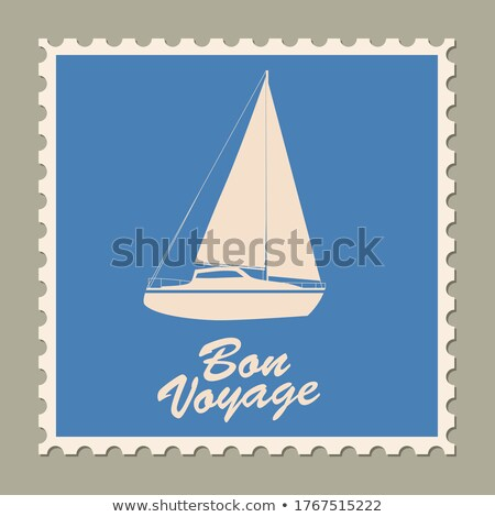 sailboat vintage postage stamp Stock photo © sirylok