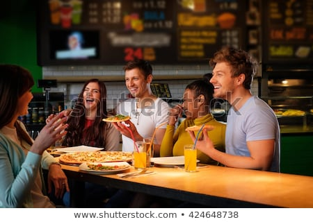 friends having diner Stock photo © photography33