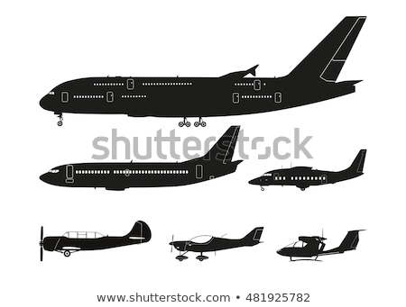 Aircraft silhouettes side view Stock photo © lkeskinen