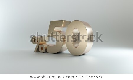 3D ötven százalék Stock fotó © carloscastilla