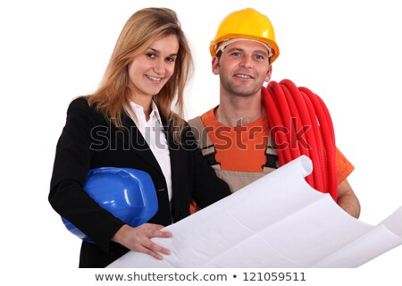 Tradesman conferring with an engineer Stock photo © photography33