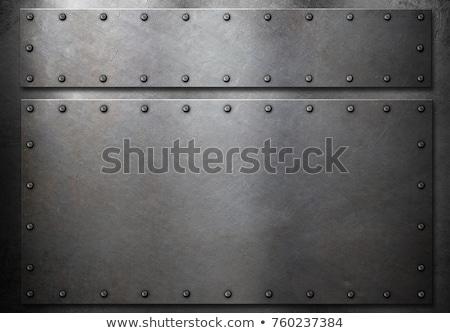 Plaat pantser zonnige verlicht historisch roestige Stockfoto © prill