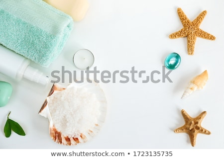 Sea salt with towel at the beach Stock photo © Sandralise