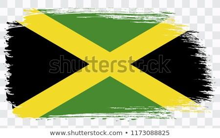 Jamaika grunge bayrak dizayn beton bağbozumu Stok fotoğraf © pashabo