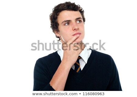 Intellectual student trying to recollect the answer Stock photo © stockyimages