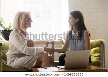 senior business partners shaking hands stock photo © photography33