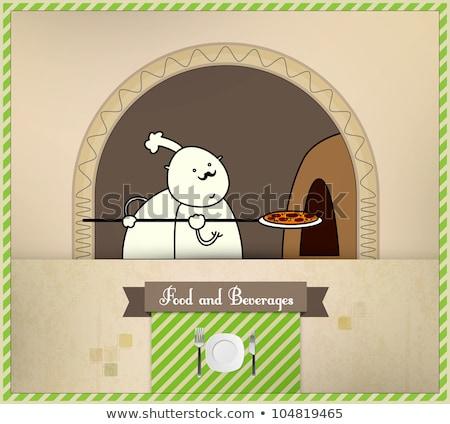 chef · pizza · oven · voedsel · dranken - stockfoto © involvedchannel