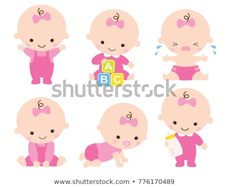 Adorable baby girl crawling Stock photo © stockyimages