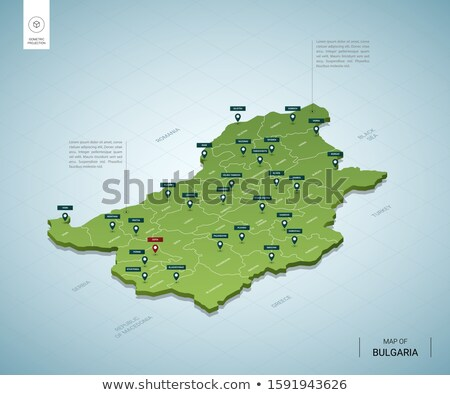 Stylized contour map of Bulgaria stock photo © marekusz