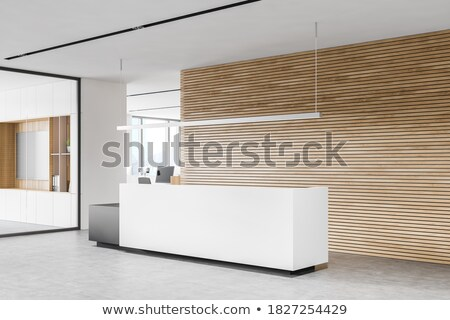 Perspectief receptie hal comfortabel kantoor frame Stockfoto © Victoria_Andreas