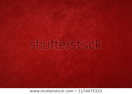 Red leather texture closeup Stock photo © homydesign