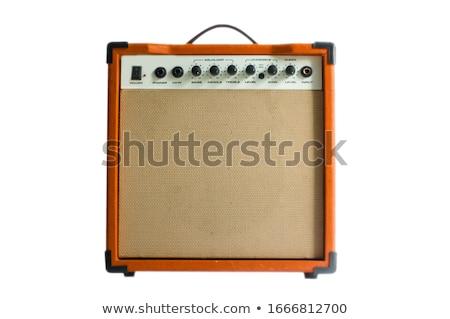 guitar amplifier isolated on white stock photo © ozaiachin