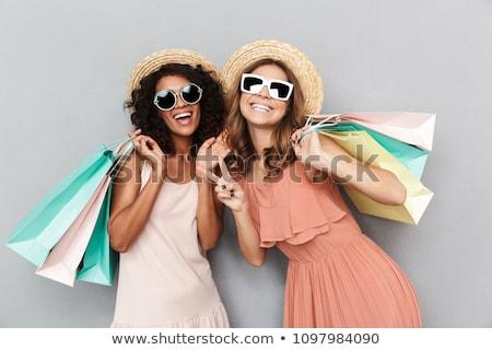 adolescentes · deux · heureux · Shopping · femme - photo stock © GekaSkr