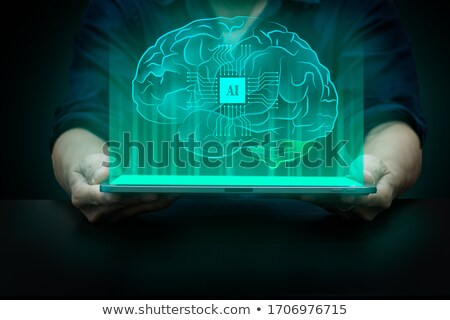 インテリジェンス 脳 画面 人間 知識 ストックフォト © stuartmiles
