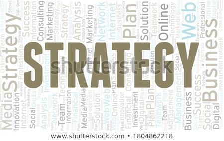 markeerstift · plan · Rood · document · werkplek · business - stockfoto © raywoo