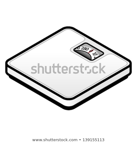 Klasszikus fürdőszobai mérleg fehér absztrakt vektor művészet Stock fotó © robertosch
