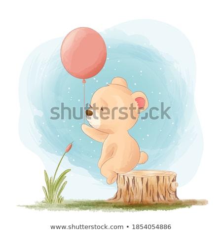 teddy bear with heart box Stock photo © Marcogovel