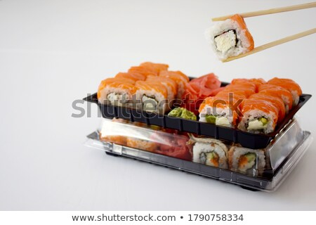 Sushi rollen tune Avocado Thunfisch Tapete Stock foto © Elmiko