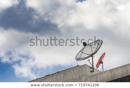 parabolaantenna · égbolt · internet · nap · háló · kábel - stock fotó © lightpoet