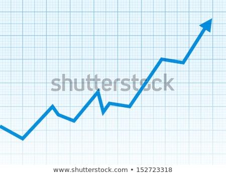 グラフ · 青 · 白 · 成長 · 成長 · ポジティブ - ストックフォト © Myvector