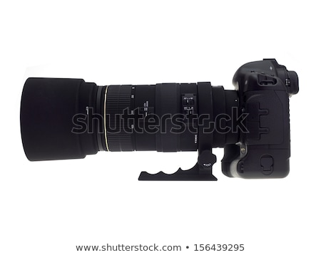 Stock photo: Camera With Telephoto Zoom Lens