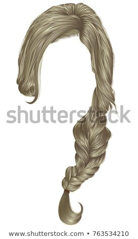 Blond woman with braid and fringe Stock photo © photography33