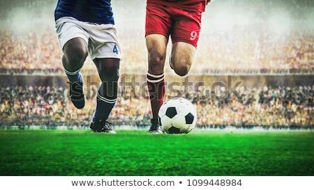 futballista · citromsárga · rúg · labda · fehér · sport - stock fotó © kalozzolak