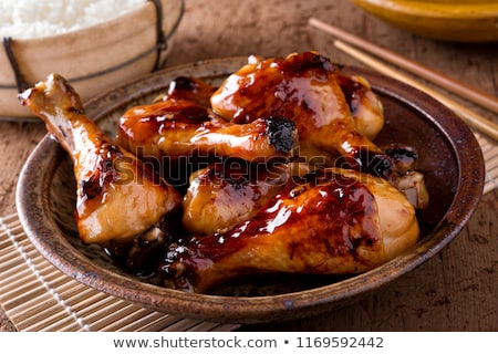 grilled meat and soy sauce Stock photo © M-studio