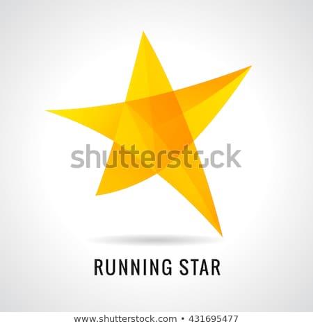 星 ロゴ 着色した ガラス にログイン ショップ ストックフォト © butenkow